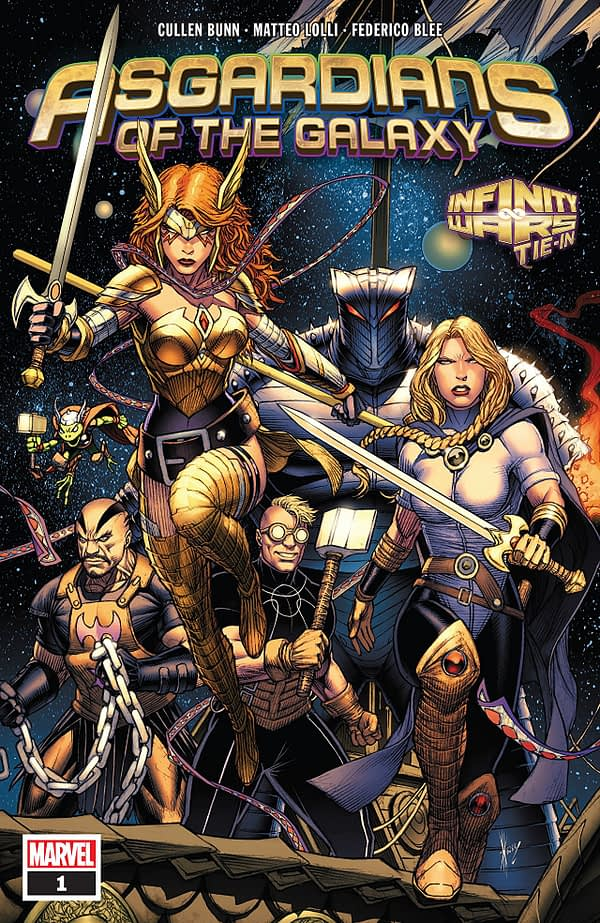 Asgardians of the Galaxy #1 cover by Dale Keown and Jason Keith
