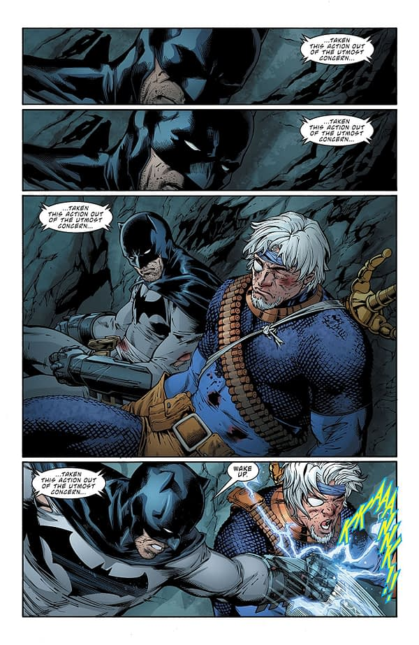 Deathstroke #35 art by Carlo Pagulayan, Jason Paz, Andy Owens, and Jeromy Cox