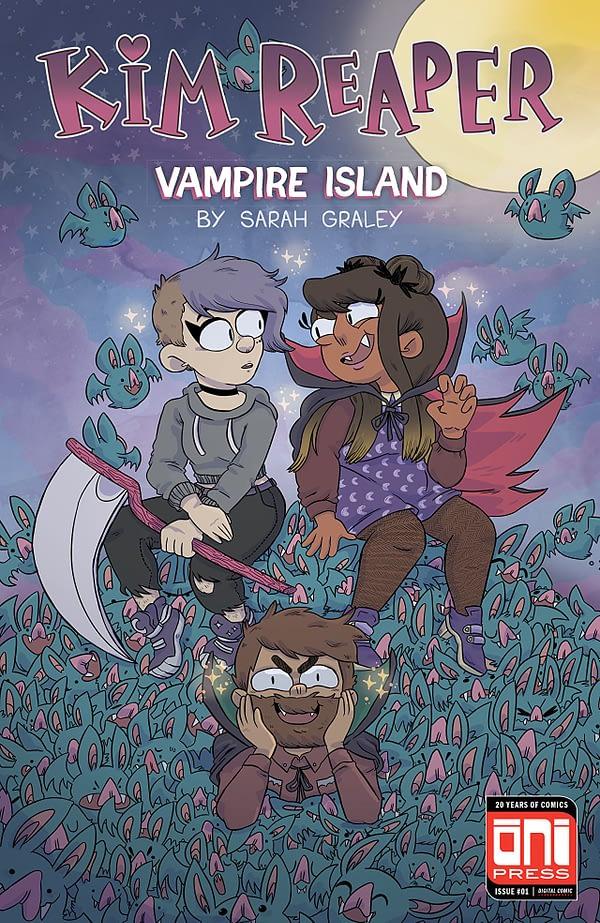 Kim Reaper: Vampire Island #1 cover by Sarah Graley