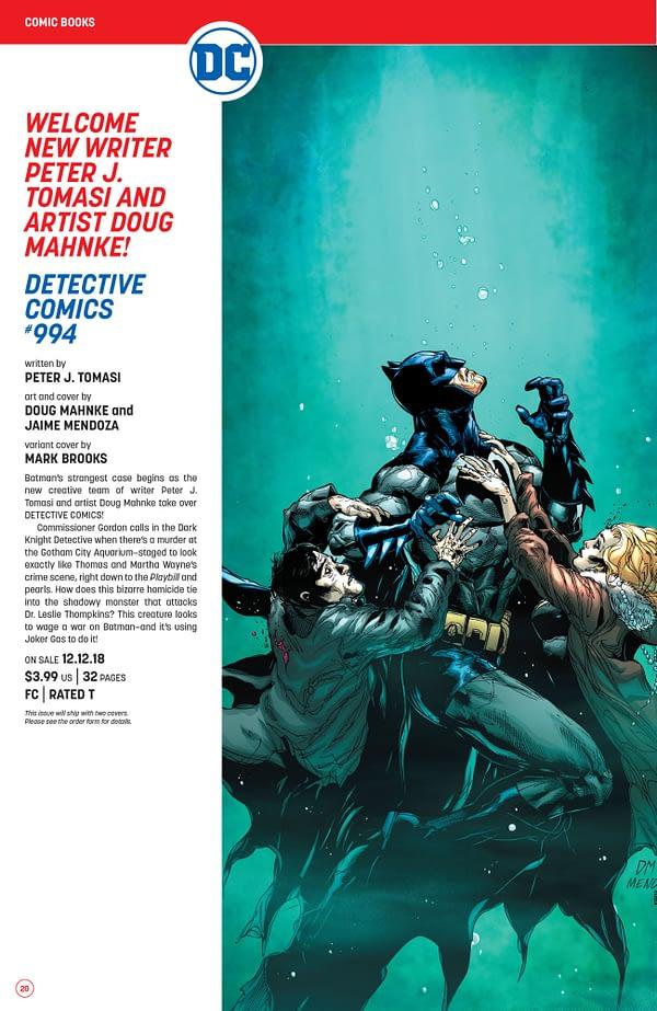 The Full DC Comics Catalog for December 2018 + Solicitations