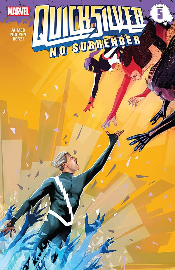 Quicksilver: No Surrender #5 cover by Martin Simmonds