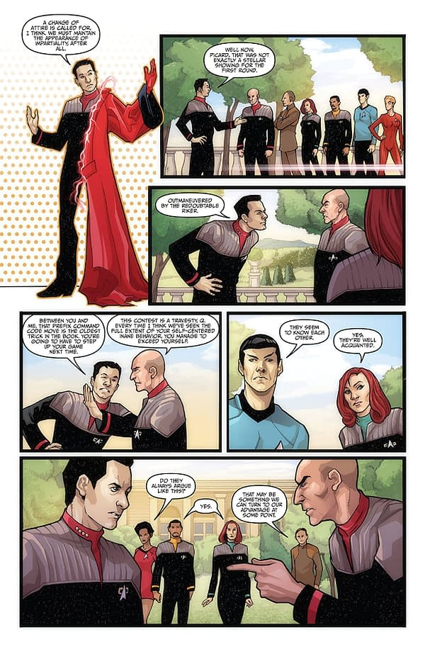 'Star Trek: The Q Conflict' #3 Heavy on Charm, Light on Substance