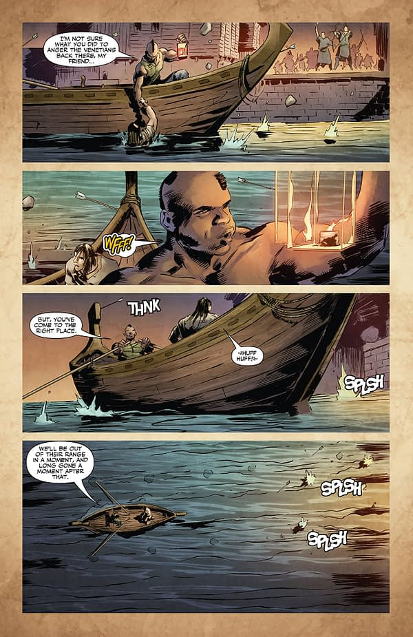 X-O Manowar #17 art by Trevor Hairsine, Ryan Bodenheim, Brian Thies, Diego Rodriguez, and Andrew Dalhouse