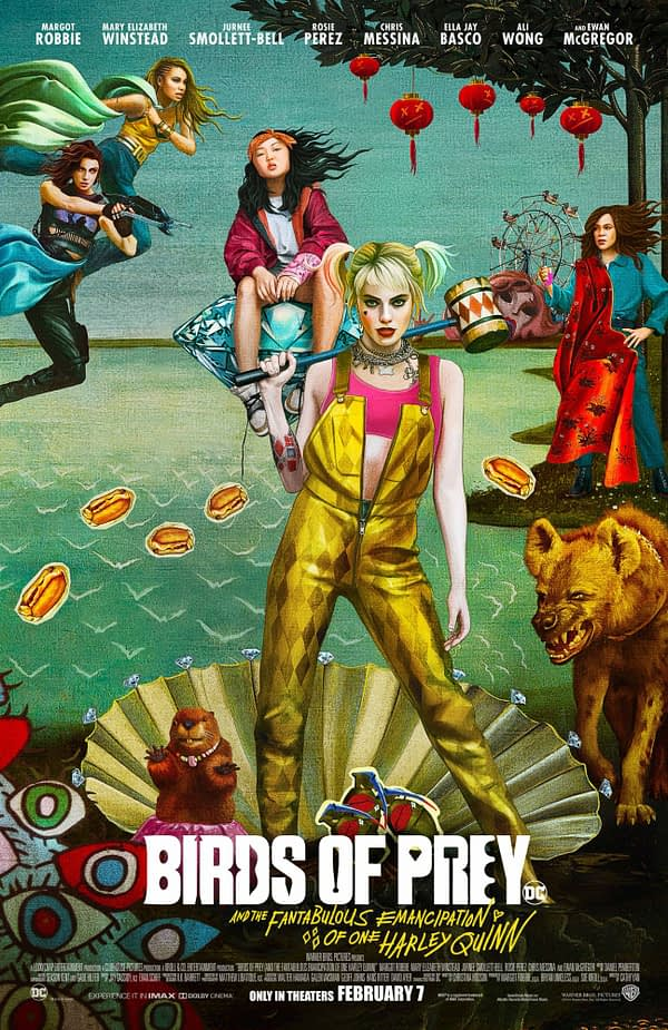 """New Poster for """"Birds of Prey: And the Fantabulous Emancipation of One Harley Quinn"""""""