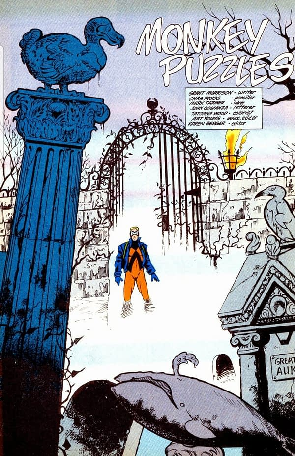 One of the Lost Issues of Grant Morrison and Chas Truog's Animal Man