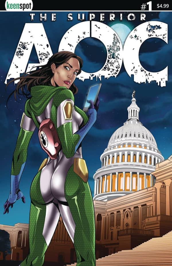 Superior AOC - a New Alexandria Ocasio-Cortez Comic in August
