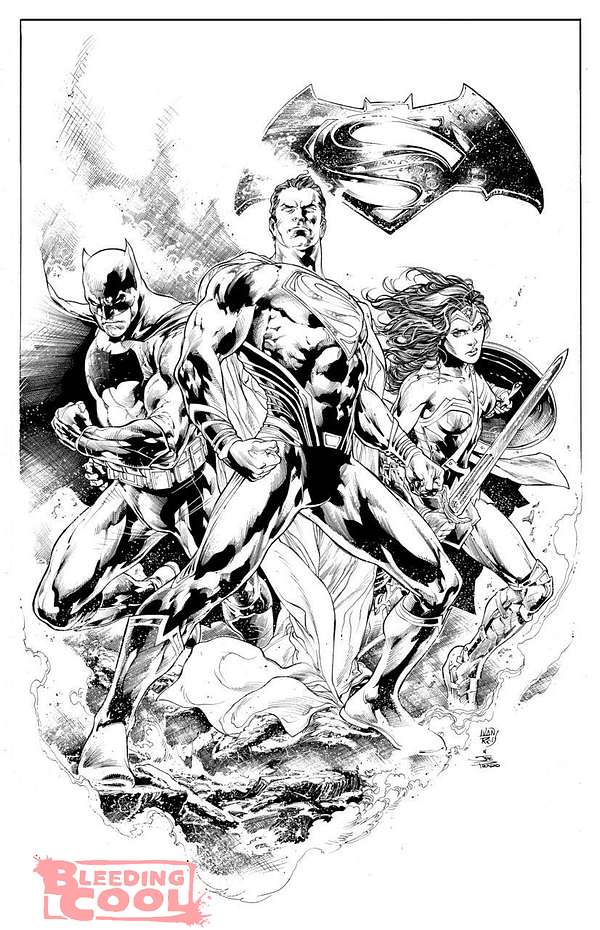 Batman vs Superman illo - Ivan Reis & Joe Prado