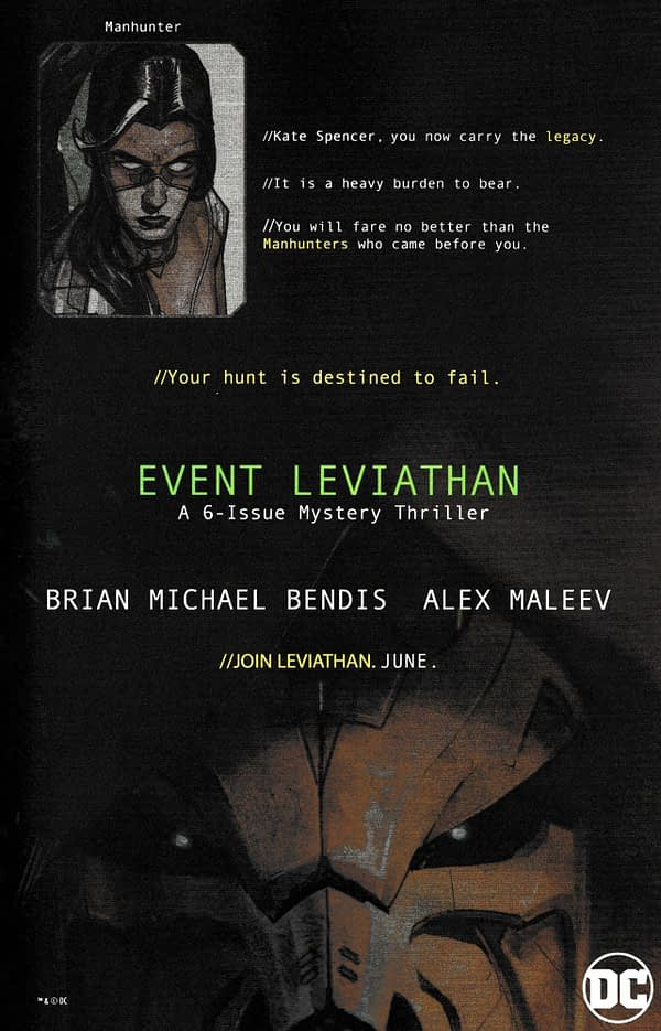 5 Full-Page Ads for Event Leviathan in Today's DC Comics Address Batman, Lois Lane, Plastic Man and Green Arrow