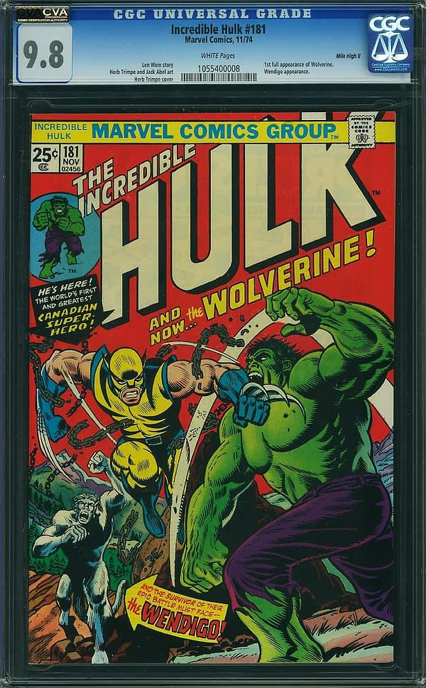Want a Piece Of Wolverine? Otis Investments Allows You to Partially Buy a Copy of Incredible Hulk #181