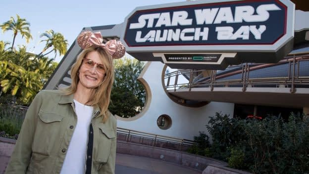 laura dern at star wars launch bay