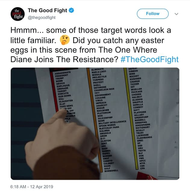 'The Good Fight': CBS All Access Issues Statement Clarifying Trump Tweet Matter [UPDATE]