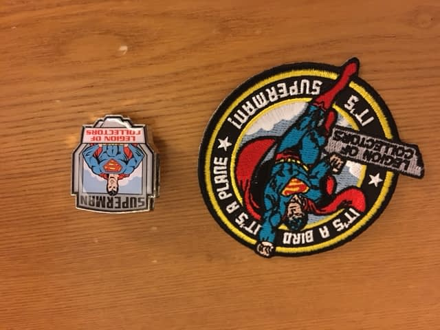 Legion of Collectors Superman Box Patch and Pin