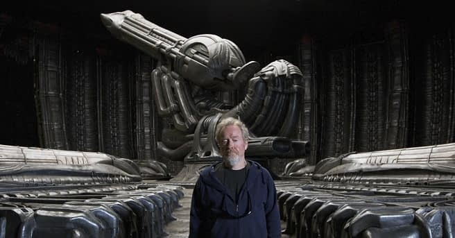 Revisiting the Giger world of Alien while filming Prometheus
