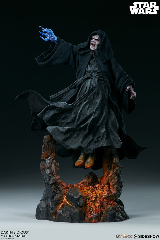 Darth Sidious Shows Unlimited Power in New Sideshow Collectibles Statue