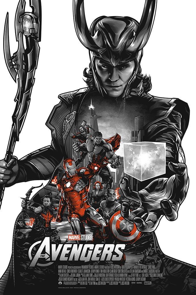 Mondo Marvel Studios 10 Anniversary Avengers by Juugo Variant