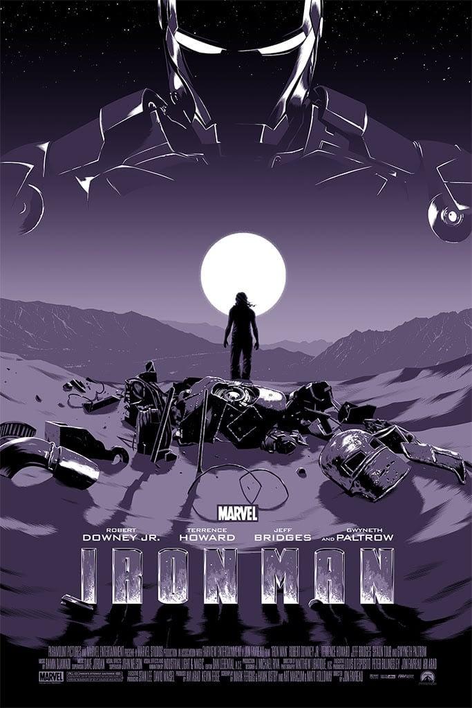 Mondo Marvel Studios 10 Anniversary Iron man by Koehler Variant