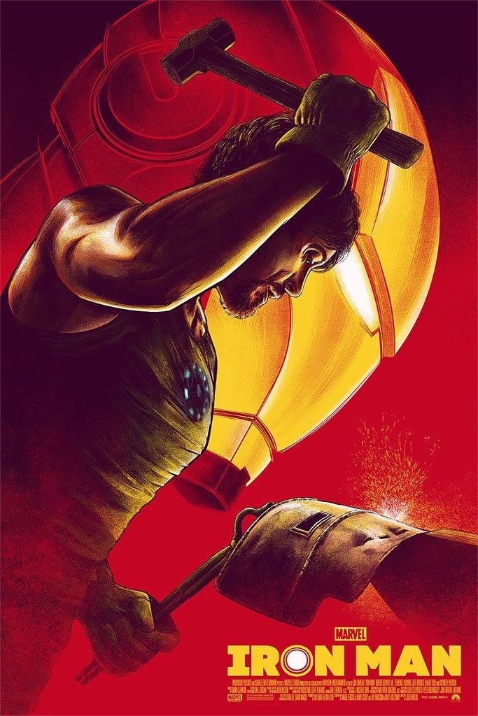 Mondo Marvel Studios 10th Anniversary Iron Man Poster