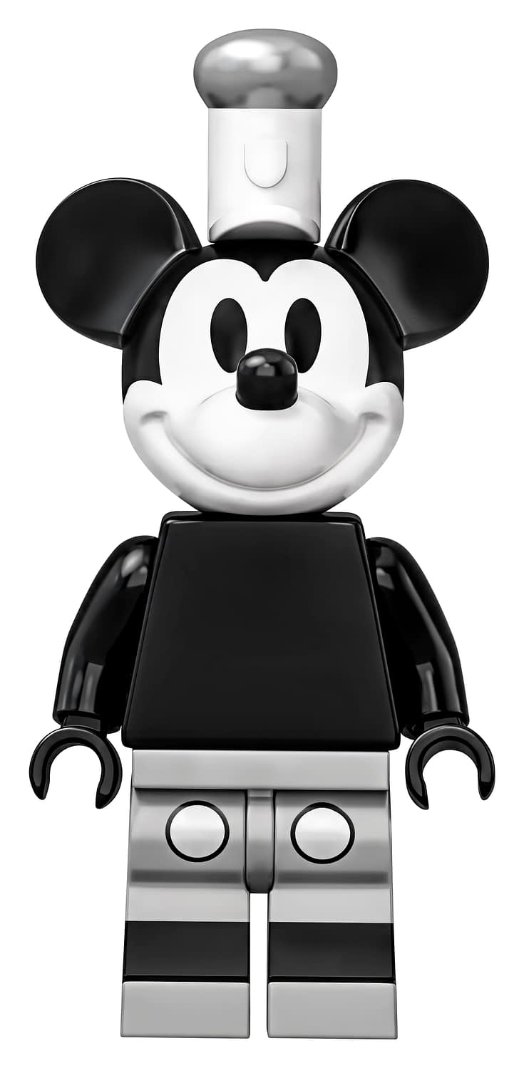 LEGO Ideas Steamboat Willie Mickey and Minnie Mouse Set 1
