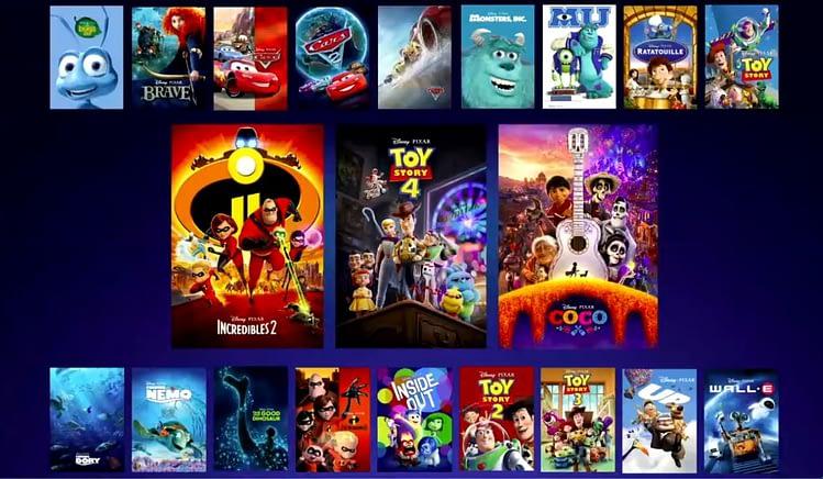 首先看看迪士尼+流媒體服務;  '曼達洛人','獵鷹和冬兵'
