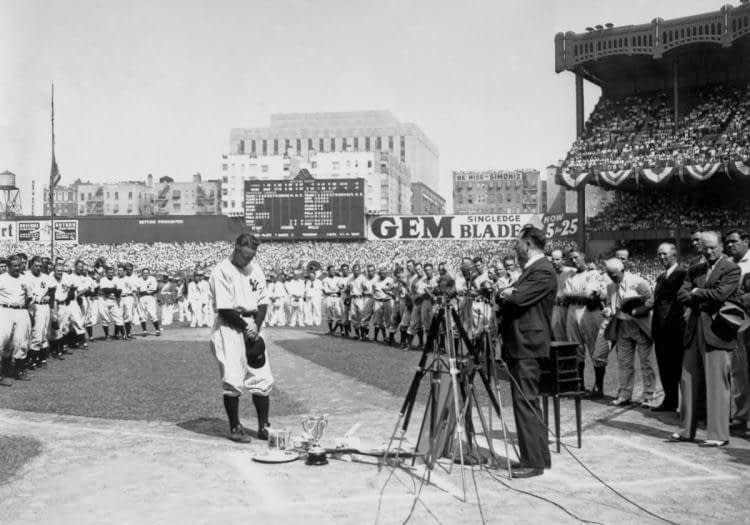 Gehrig Luckiest Man Alive Speech