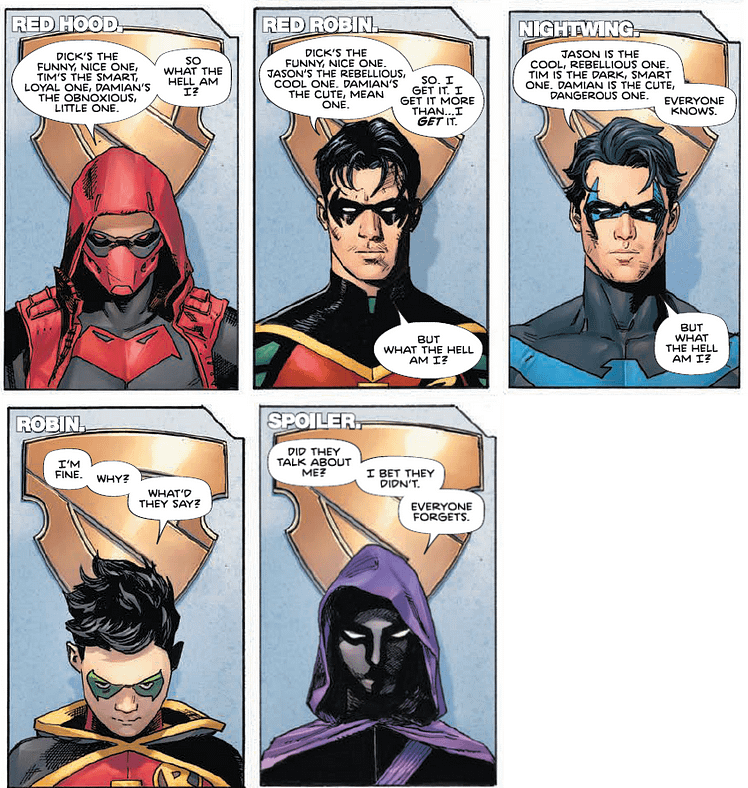 How The Robins See Themselve in Heroes In Crisis #9