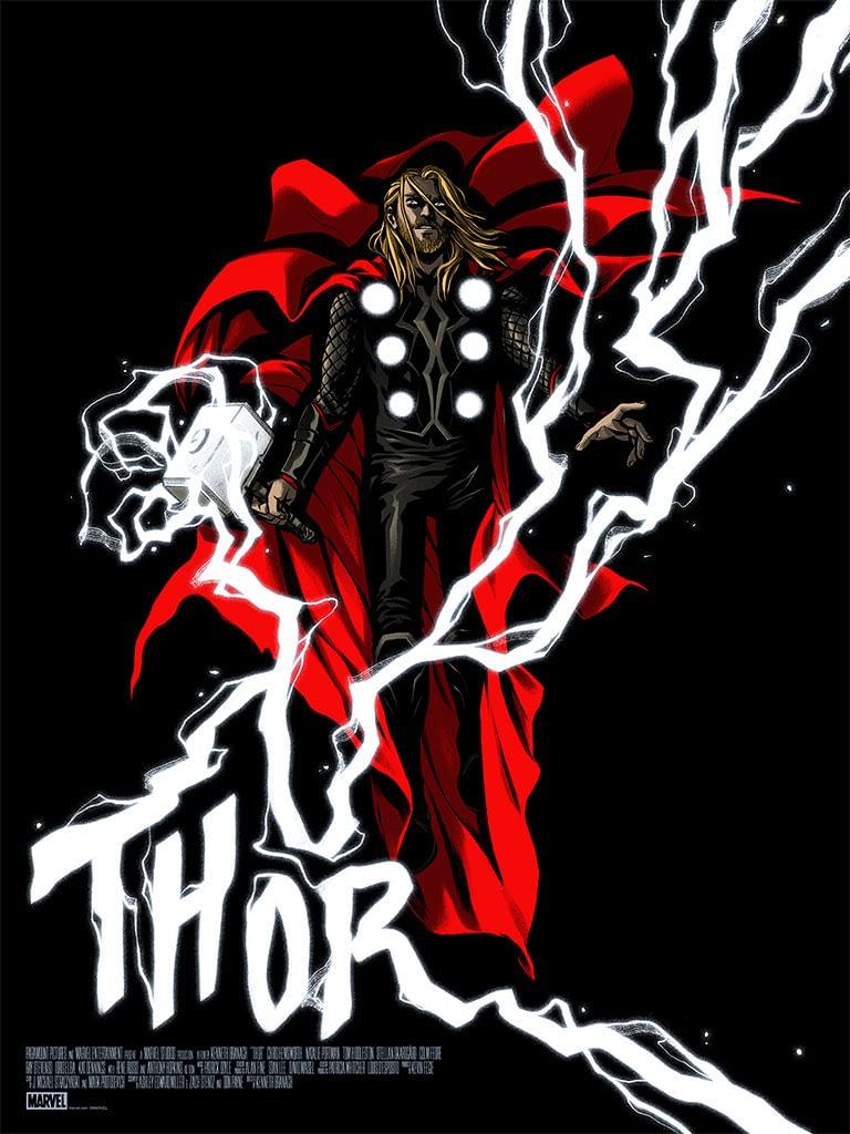 Mondo Marvel Studios 10 Anniversary Thor by Cloonan