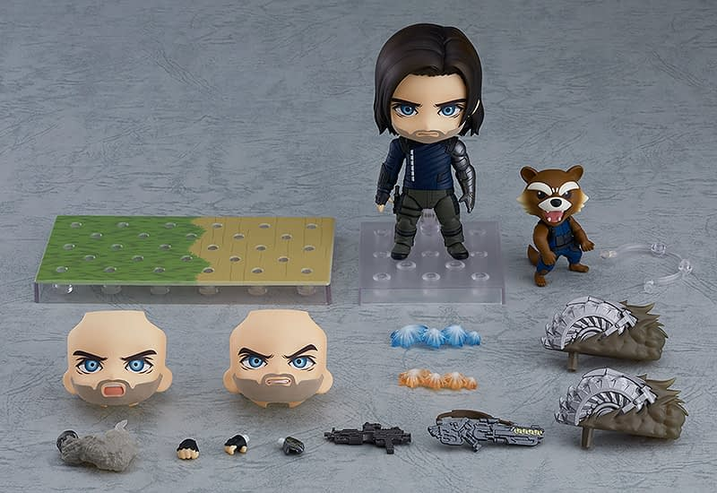 Avengers Buddies Bucky and Rocket get an Adorable Nendoroid Figure