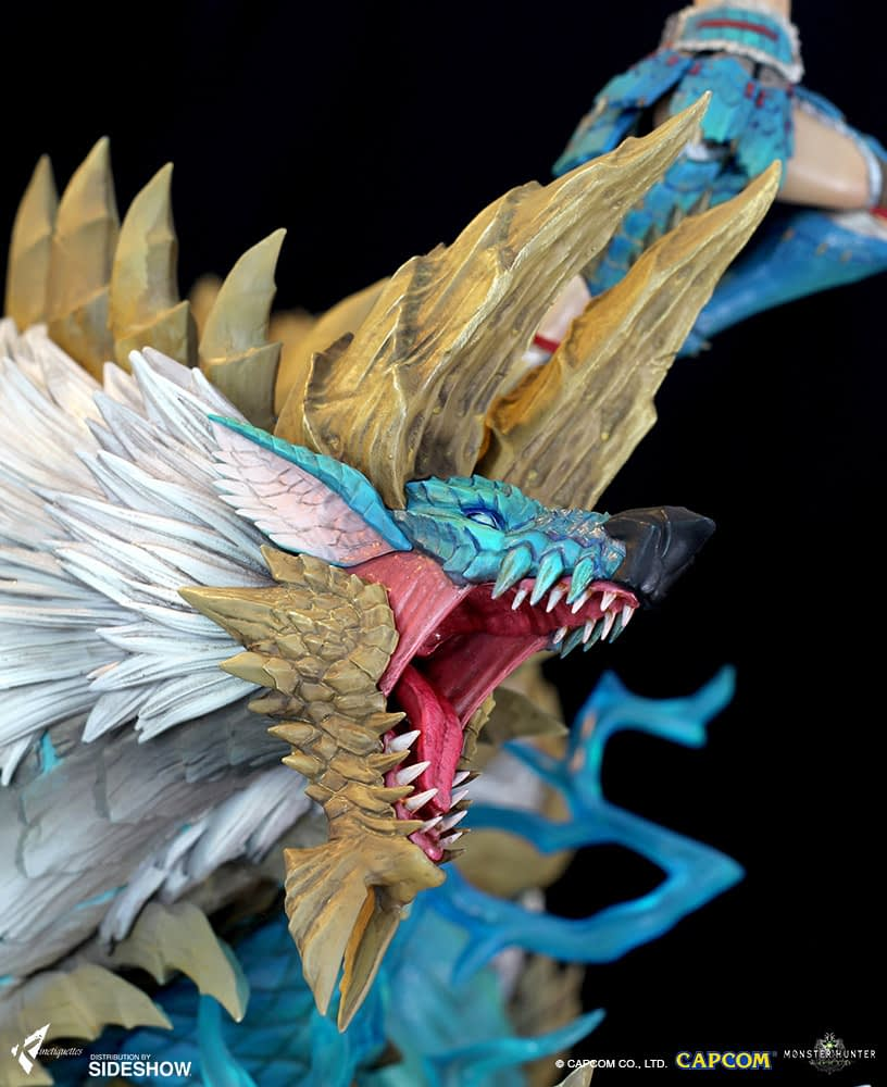 Monster hunter arrives with new statue from Kinetiquettes