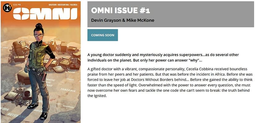 The Changing Creative Teams of Omni, Published by Humanoids Tomorrow