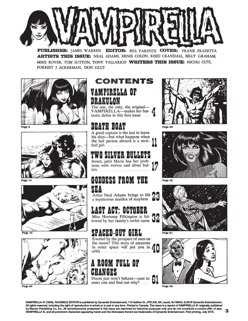 Creepy Back Issues, Conan Novels, and More Great 1970s Comic Ads from Vampirella #1 Replica Edition