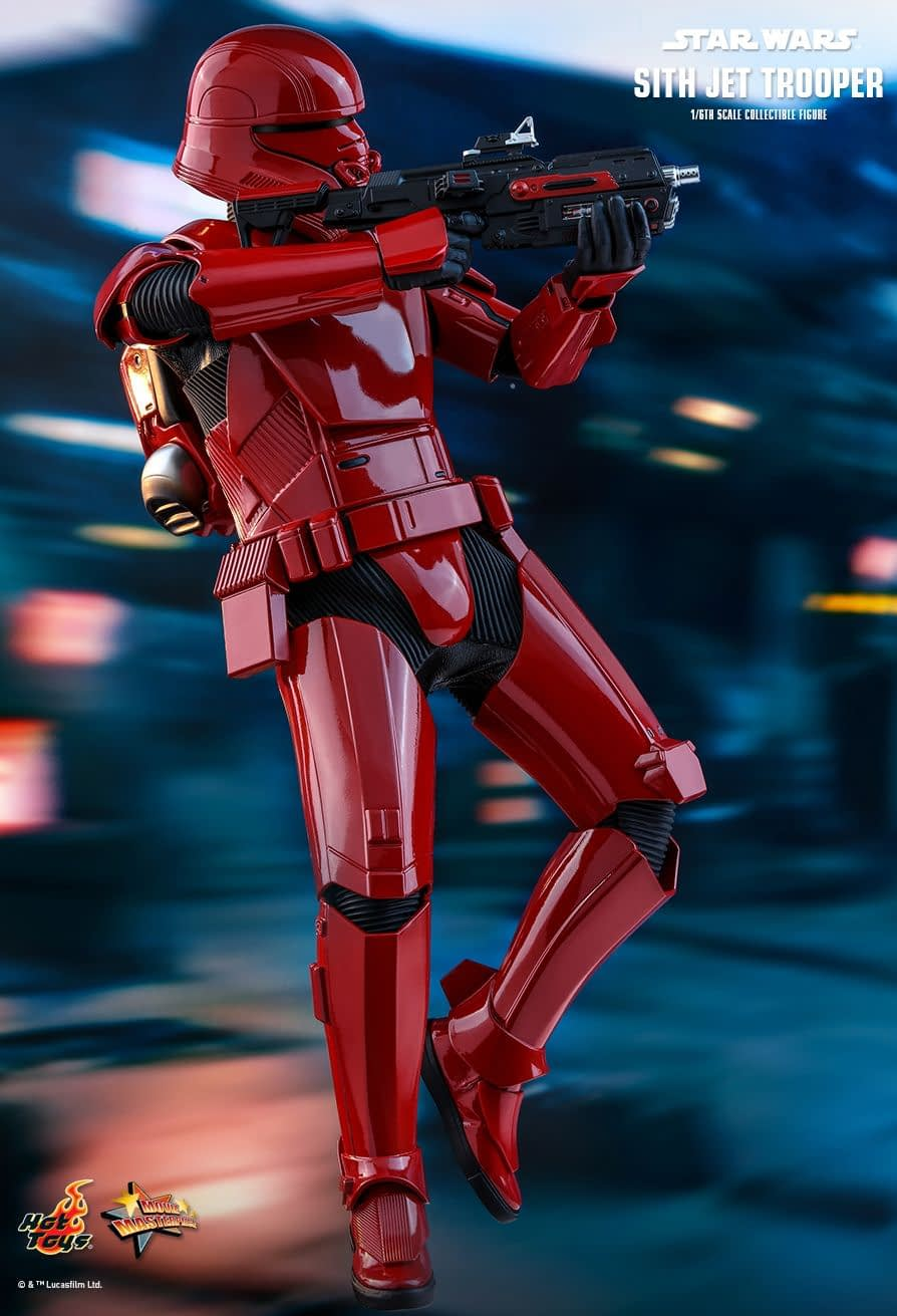 Sith Jet Trooper Makes the Skies Red with Hot Toys