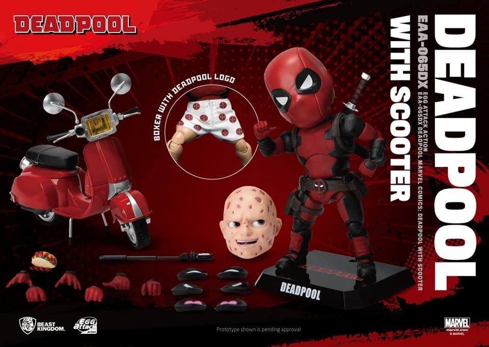 Deadpool rides on in with new beast kingdom figure