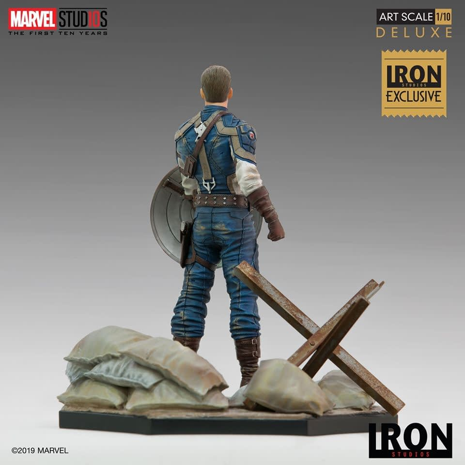 Captain America Stands Proud with New Iron Studios Exclusive Statue