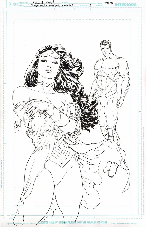 Superman Wonderwoman cover - scan