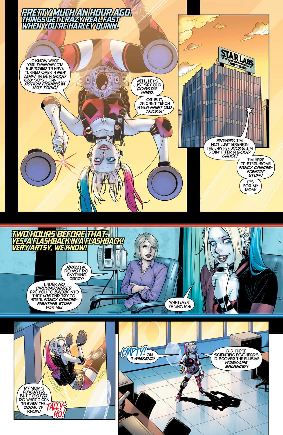 Can Harley Find a Cure for Cancer in Tomorrow's Harley Quinn #60?