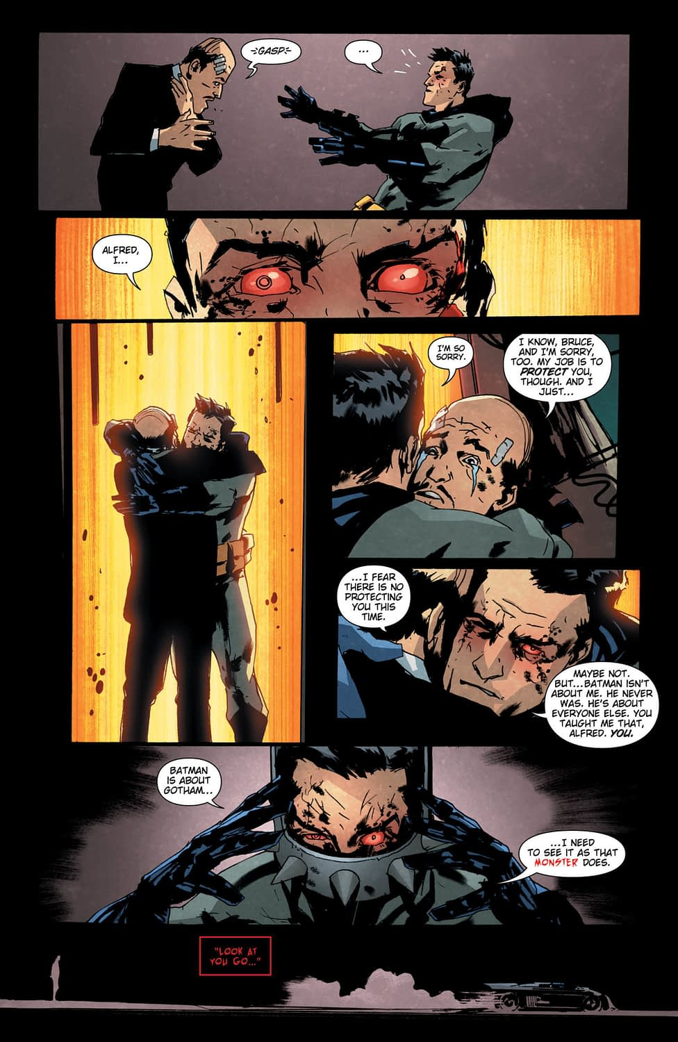 In Batman Who Laughs #4, We Learn Alfred Can Beat Batman in a Fight