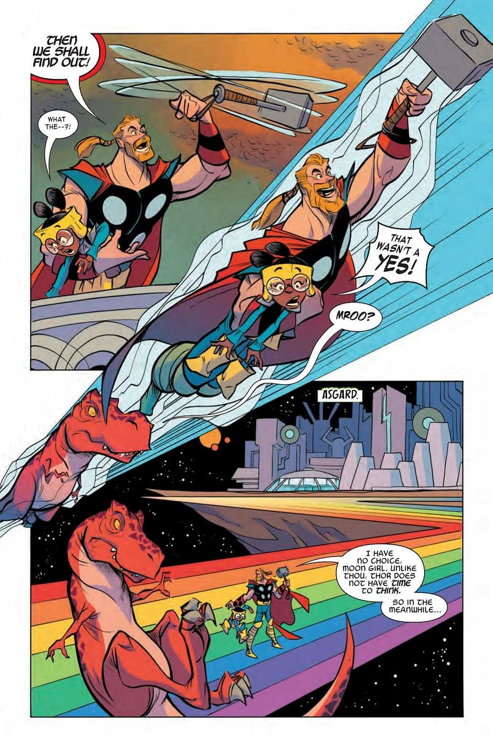 Moon Girl Puts Thor in His Place - Moon Girl and Devil Dinosaur #43 Preview