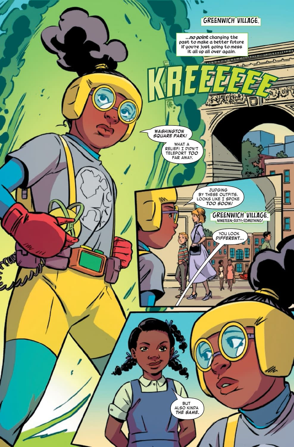 Moon Girl Pulls a Marty McFly - Moon Girl and Devil Dinosaur #44 Preview