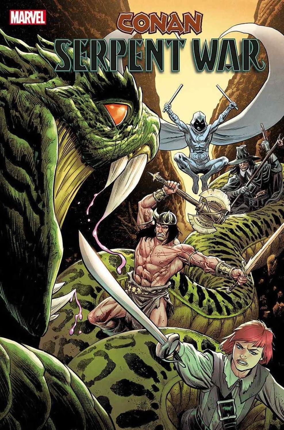 Serpent War: Conan Crosses Over With Moon Knight in Dece