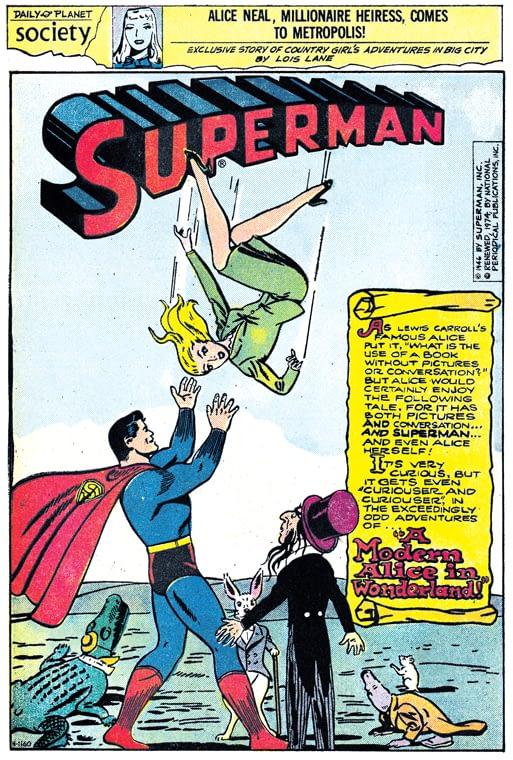 Superman #41 July-Aug 1946 A Modern Alice
