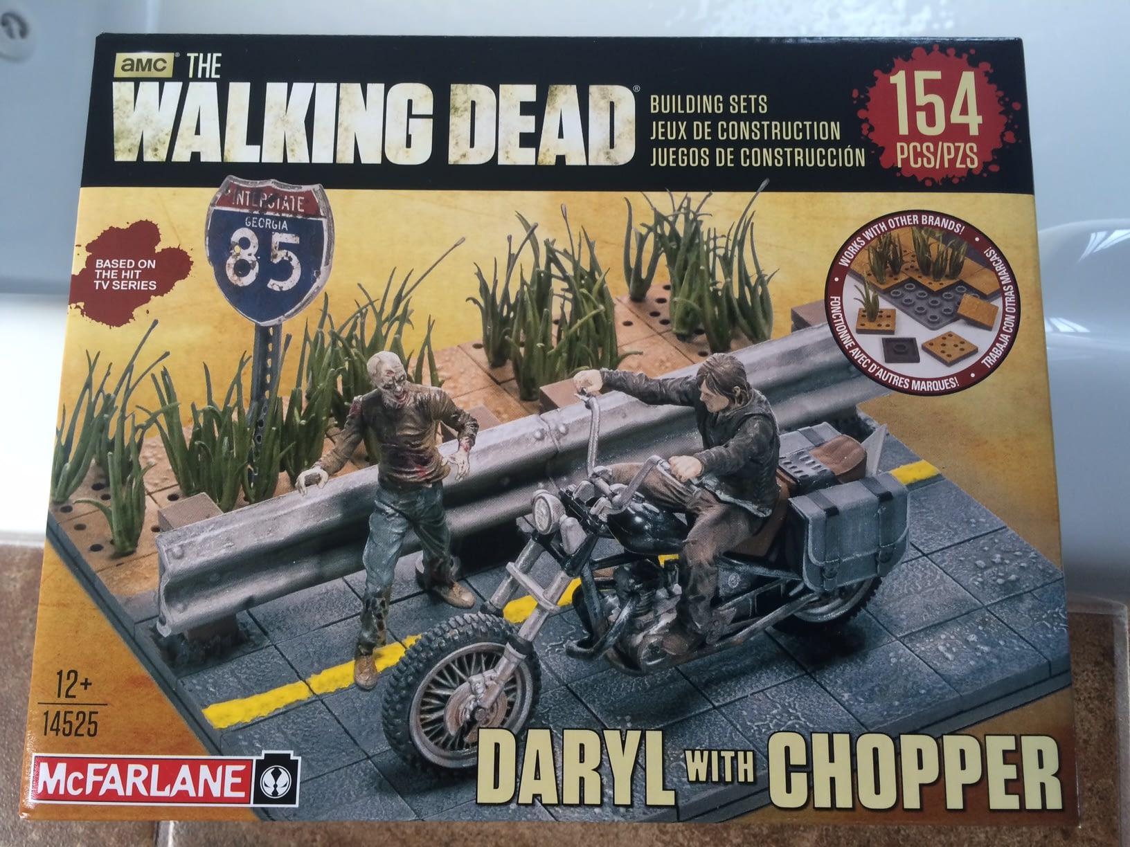 MCFARLANE THE WALKING DEAD AMC BUILDING SETS DARYL WITH CHOPPER 14525 154PCS!