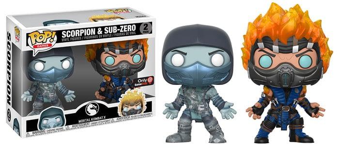 Funko Mortal Kombat Scorpion Sub Zero Pop Two Pack
