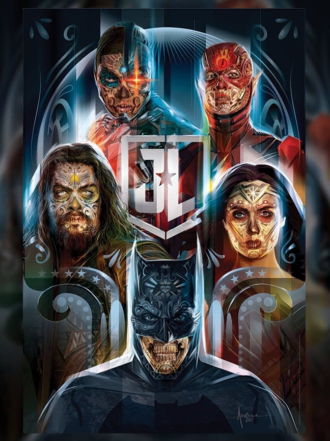 Justice League: Day Of The Dead Poster by Orlando Arocena