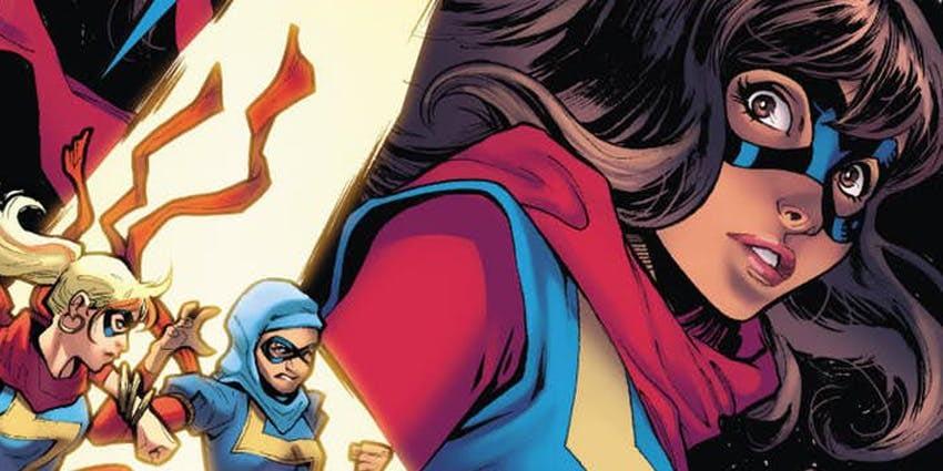 Ms. Marvel #27 cover by Valerio Schiti and Rachelle Rosenberg