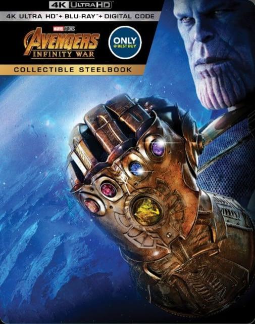 Avengers: Infinity War Best Buy Exclusive Steelbook