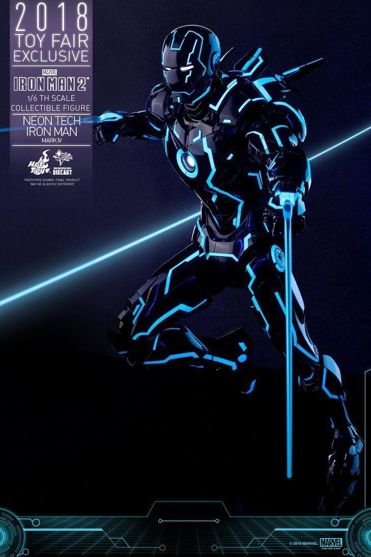 Hot Toys Neon Armor Tech Iron Man 2