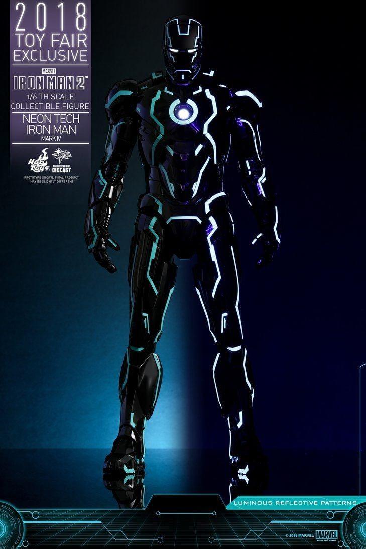 Hot Toys Neon Armor Tech Iron Man 4