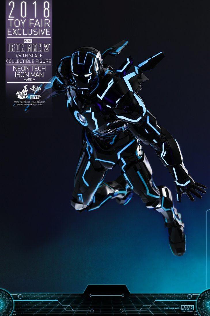 Hot Toys Neon Armor Tech Iron Man 7