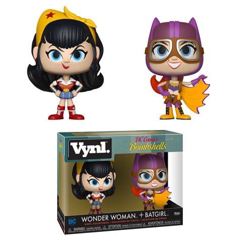 Funko DC Bombshells Wonder Woman Batgirl Vnyl