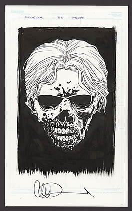 Comic Connect Walking Dead Art Page Auction HC Back 8